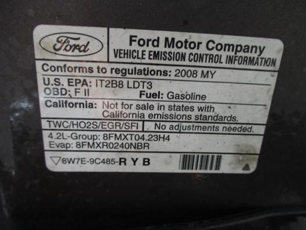 2008 Gray /Gray Ford F-150 (1FTRF12288K) with an 4.2L V6 OHV 12V engine, located at 1725 US-68 N, Bellefontaine, OH, 43311, (937) 592-5466, 40.387783, -83.752388 - Photo #27