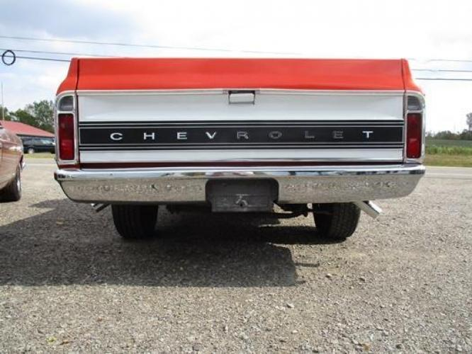 1970 Orange/White Chevrolet C10 with an 328 V8 engine, located at 1725 US-68 N, Bellefontaine, OH, 43311, (937) 592-5466, 40.387783, -83.752388 - Photo #28