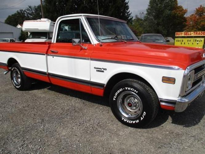 1970 Orange/White Chevrolet C10 with an 328 V8 engine, located at 1725 US-68 N, Bellefontaine, OH, 43311, (937) 592-5466, 40.387783, -83.752388 - Photo #30